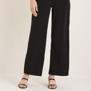 Seed Womens High Waisted Formal Work Wide Leg Black Pants Size M